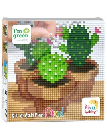 Kit créatif PIXEL - Tableau Cactus 12x12cm - Pixel Hobby
