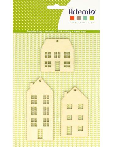 Set 3 silhouettes bois Artemio - Maison