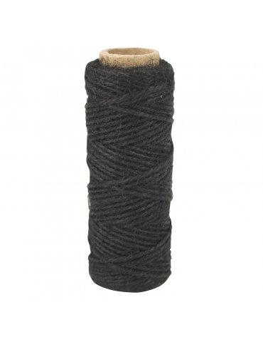 Corde naturelle jute noire - 2mm x30m