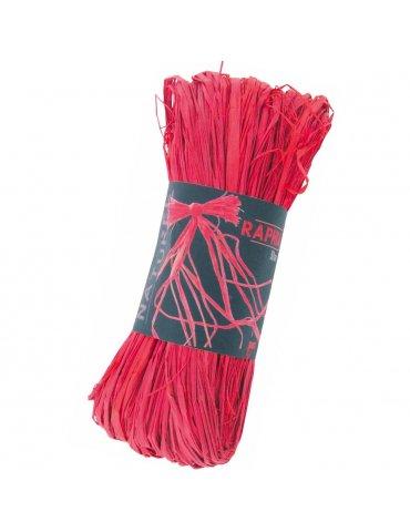 Raphia naturel rouge -...