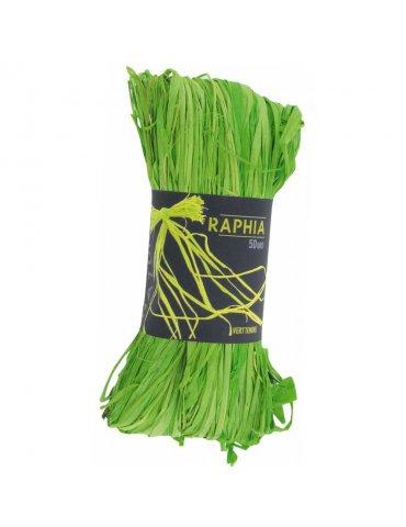 Pelote 50g Raphia naturel Vert clair - Ctop