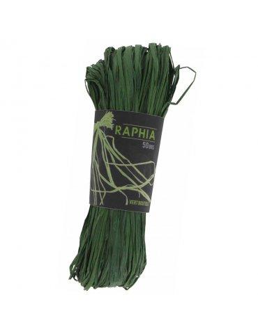 Raphia naturel Vert foncé -...