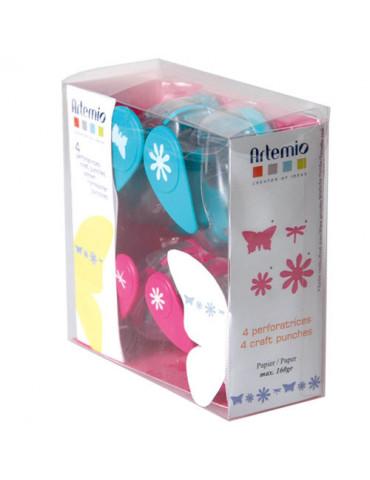 Kit 4 perforatrices Fleurs