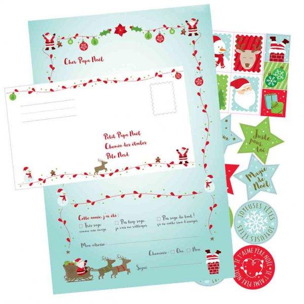 Set pour écrire 6 Lettres au Père Noël - Design By Charlotte