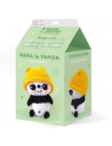 Kit crochet - Minigurumi Nana le Panda 10cm - Graine Créative