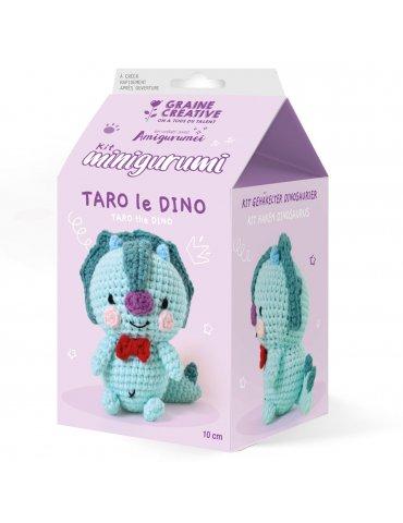 Kit crochet - Minigurumi Taro le Dino - 10cm - Graine Créative