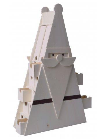 Calendrier de l'avent triangle - Père Noël en bois - Artemio