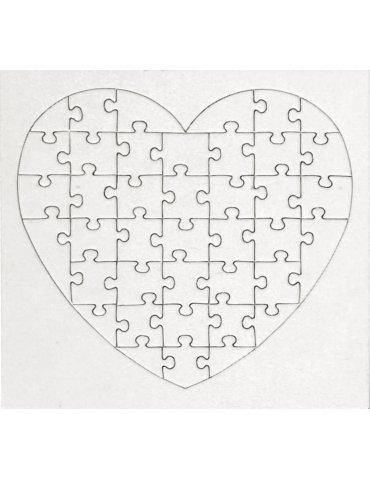 Puzzle carton coeur 40 pièces x10 - Graine Créative