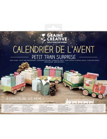 Kit Calendrier de l'avent à monter - Petit train de surprise - Graine Créative