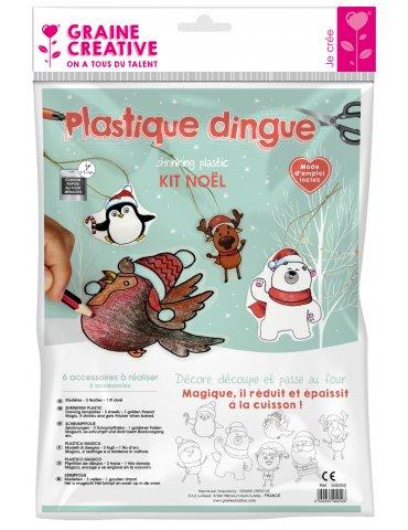 Kit Plastique dingue - 7 Décorations de Noël - Graine Créative