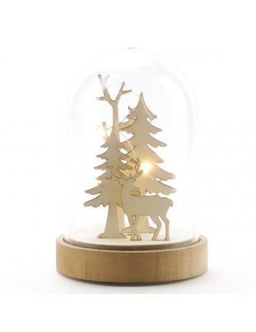 Cloche lumineuse Noël - 93x140mm - Graine Créative