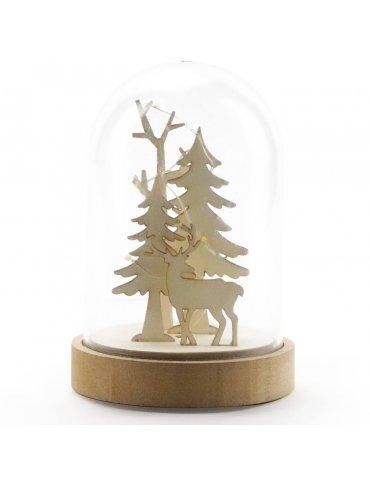 Cloche lumineuse Noël -...