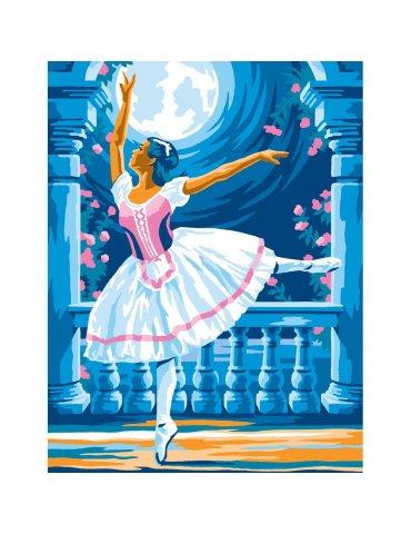 Kit peinture à l'acrylique par numéro Ballerine au clair de lune - Peinture au numéro débutant