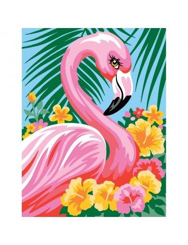 Kit peinture à l'acrylique par numéro Flamand rose - Extérieur
