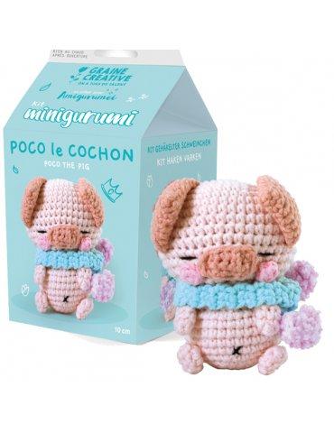 Kit crochet - Minigurumi Poco le Cochon 10cm - Graine Créative