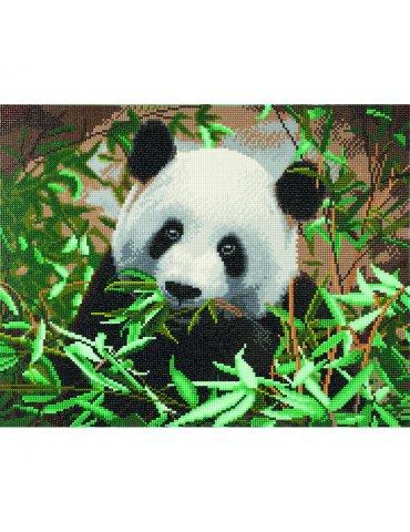 Kit Broderie diamant Panda - Tableau Crystal Art 40x50cm