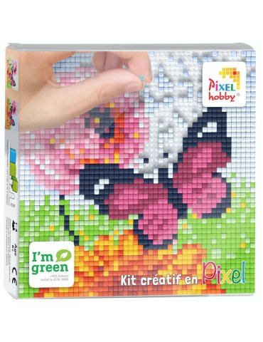 Kit créatif PIXEL - Papillon 12x12cm - Pixel Hobby
