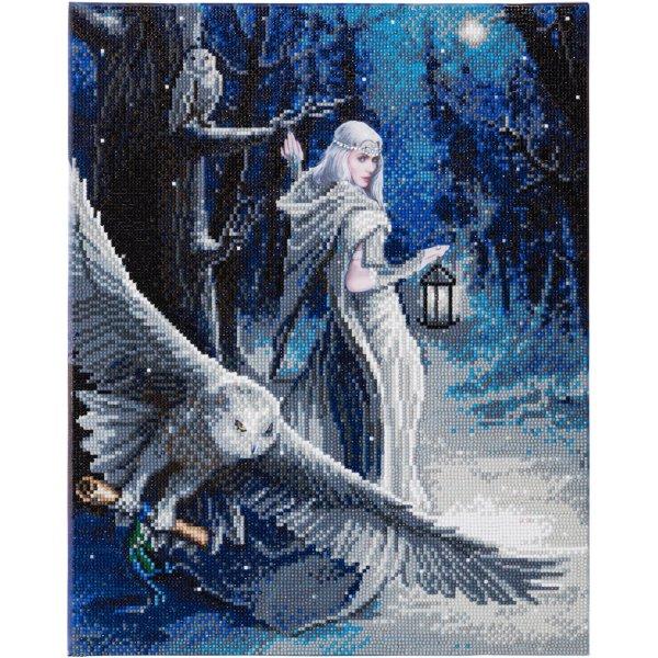 Kit broderie diamant Anne Stokes - Tableau Midnight Messenger
