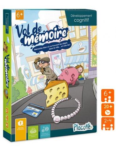 Jeu éducatif - Vol de mémoire - 6 ans+ - Placote