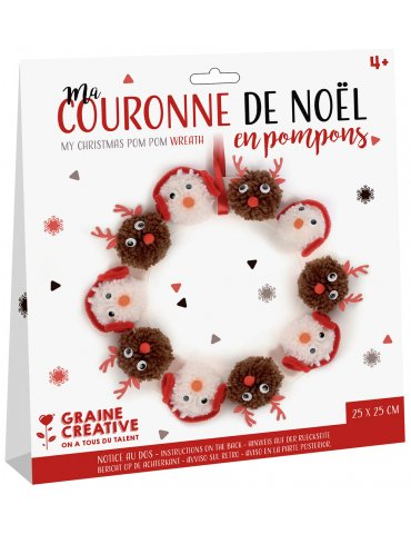 """Kit pompons """"Ma Couronne de Noël"""" - Graine Créative - 4 ans+"""