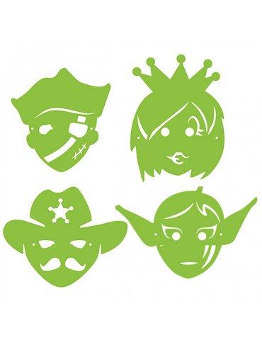 Pochoirs masques enfant -...