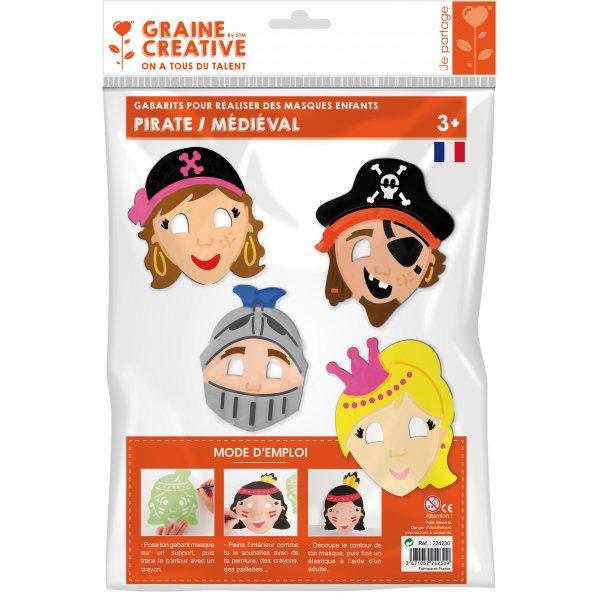 Gabarits masques enfants - Personnages 2 - Graine Créative