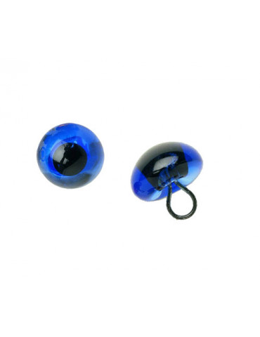 Yeux verre bleu 8mm x2