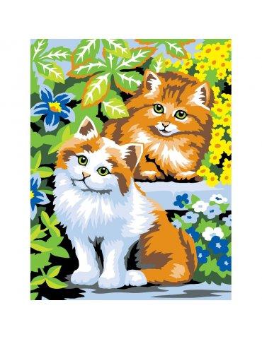 Kit peinture à l'acrylique par numéro Chats Coquins