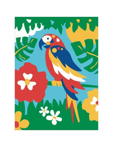 Kit Peinture numéro pour Enfant 4+ - Paco Le Perroquet - Sequin Art