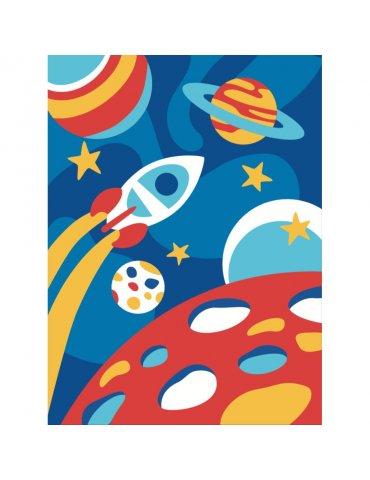 Kit Peinture numéro pour Enfant 4+ - Mission Galaxie - Sequin Art