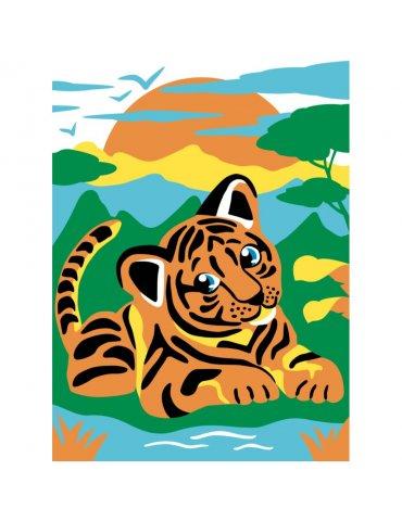 Kit Peinture numéro pour Enfant 4+ - Tifou le tigre - Sequin Art