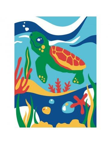 Kit mes premières peintures Tomy la tortue 4+ -  Peinture numéro pour Enfant 4+ - Mes par numéro enfant - Sequin Art