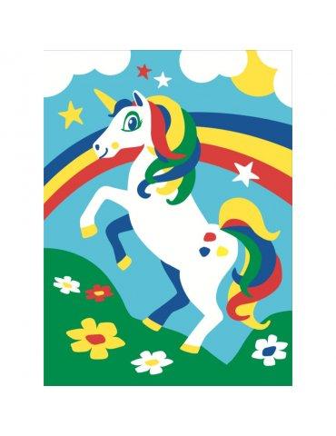 Kit mes premières peintures Lili la licorne -  Peinture numéro pour Enfant 4+ - Mes par numéro enfant - Sequin Art