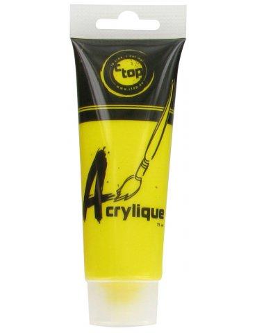 CTOP - Peinture acrylique mate Jaune - Tube 75ml
