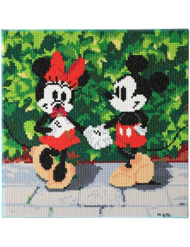 DISNEY Minnie & Mickey - Tableau à diamanter 30x30cm - Crystal Art