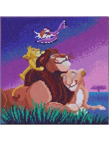 DISNEY Le Roi Lion - Tableau à diamanter 30x30cm - Crystal Art