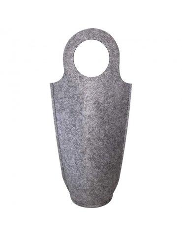 Porte-bouteille feutrine Gris - 18,5x40cm - Support à customiser - Sodertex