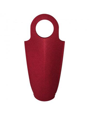 Porte-bouteille feutrine Rouge - 18,5x40cm - Support à customiser - Sodertex