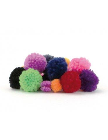 Set 24 pompons laineux colorés - 15mm et 30mm - Graine Créative