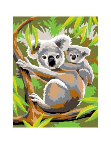 Peinture par numéros débutant - Koalas - Sequin Art