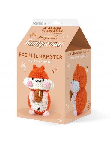 Kit crochet Minigurumi - Pochi le Hamster 10cm - Graine Créative