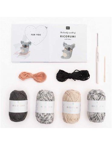 Kit crochet Ricorumi Koala - Rico Design
