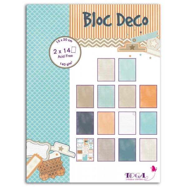 Bloc Déco Toga 15x20cm - Vice Versa - 28 feuilles