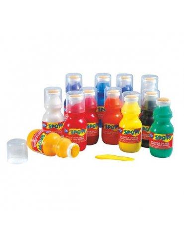 Set 12 Applicateurs Spoty Education - Gouache liquide 12x20ml - Lefranc & Bourgeois - 3+