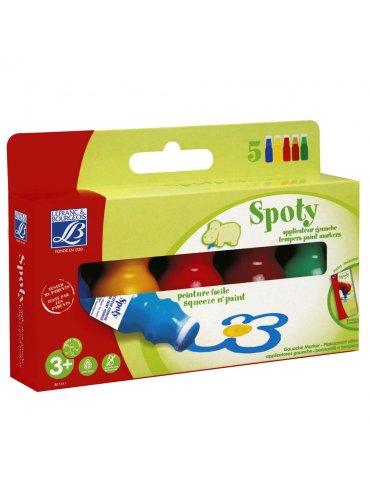 Spoty Education - Applicateurs Gouache 5x70ml - L&B - 3 ans+