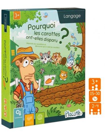 Jeu éducatif 3 ans + - Pourquoi les carottes ont-elles disparu ?  - Placote