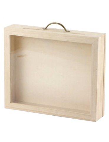 Urne Valise vitrée - 30x25x7 cm - Graine Créative