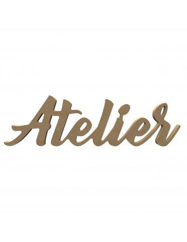 Gomille - Mot à poser ATELIER 38cm - Support à décorer medium