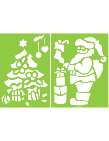 Pochoirs géants Père Noël &...