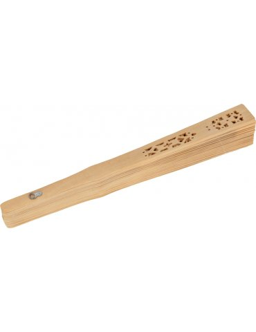 Eventail en bois naturel -...